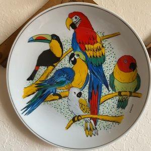 Vintage Bird Hanging Plate🦜